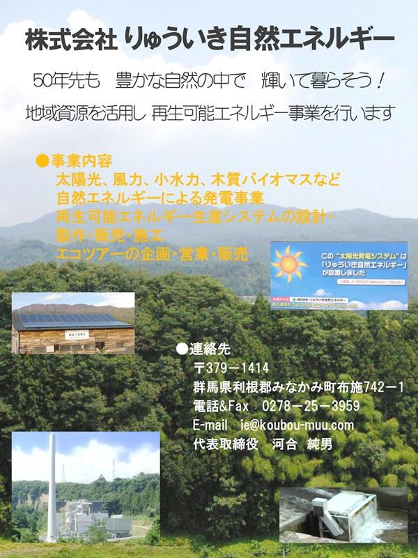 りゅういき自然エネルギーパンフレット